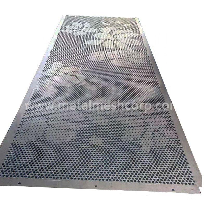 Decorative perforated wall cladding
