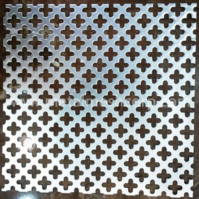 Cross hole perforated metal sheet