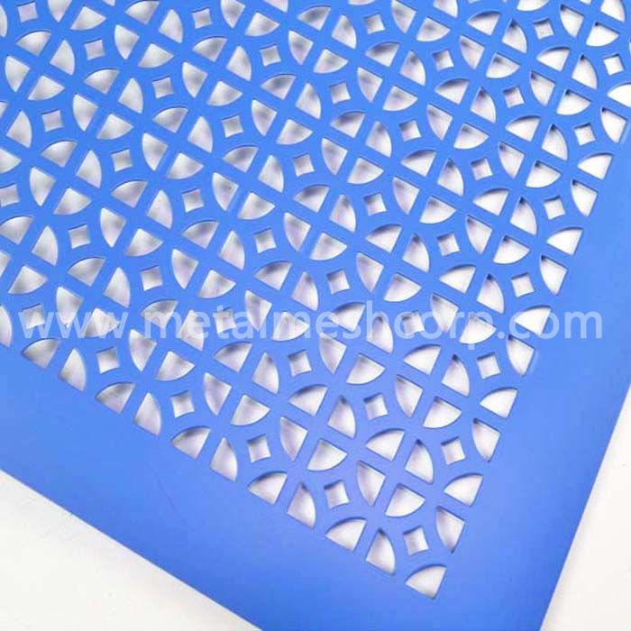 Decorative hole aluminum perforated sheet