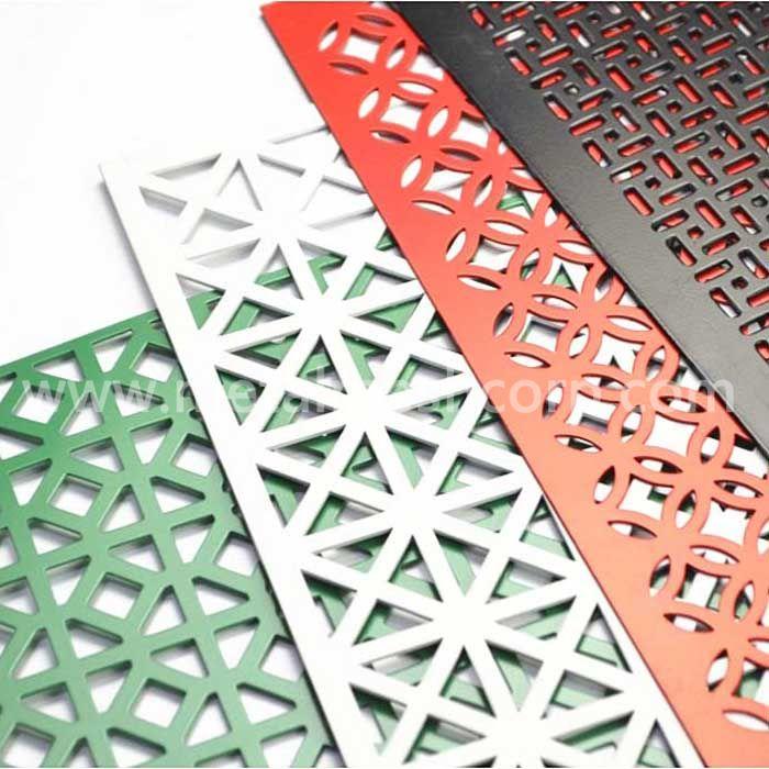 Decorative hole aluminum perforated sheet