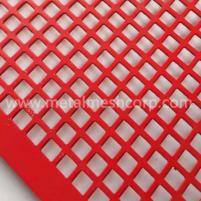 Square hole aluminum perforated mesh