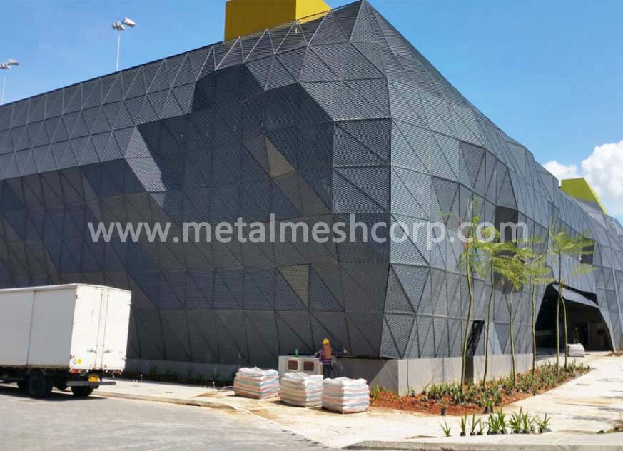 Aluminum Expanded Mesh For Building Facade