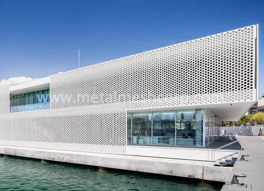External Facade Panels With Architecture Perforated Mesh
