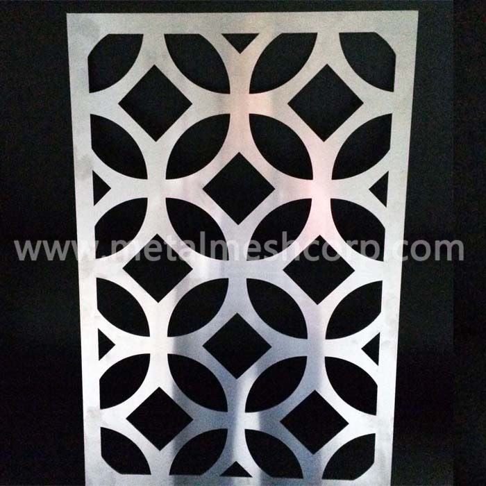 Round Pattern Laser Cut Aluminum Sheet