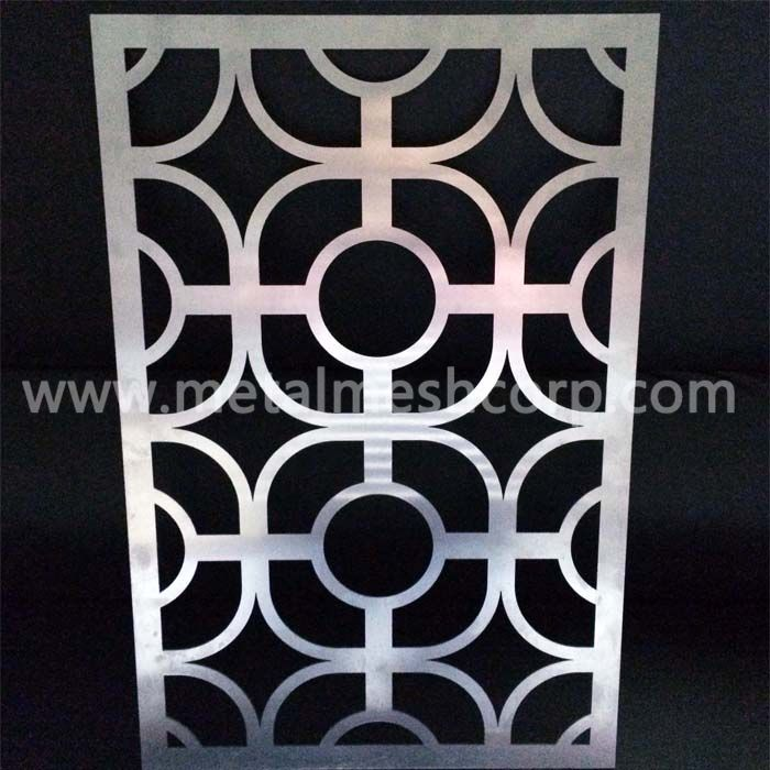 Laser cut metal panels