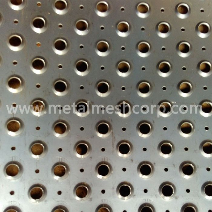 Black Steel Perforated Sheet