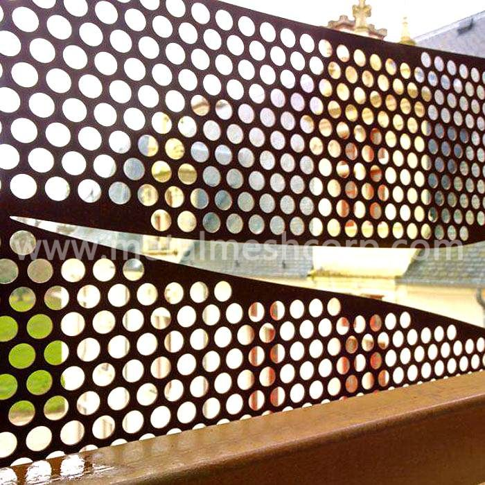 Perforated Metal Noise Barrier