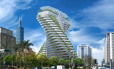 A Magnificent project- Twisting Agora Garden Tower